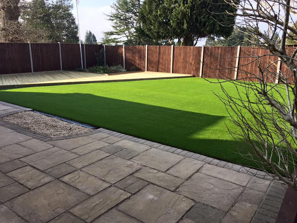 decking and artifical grass