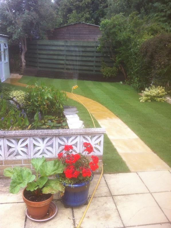 Landcaped garden
