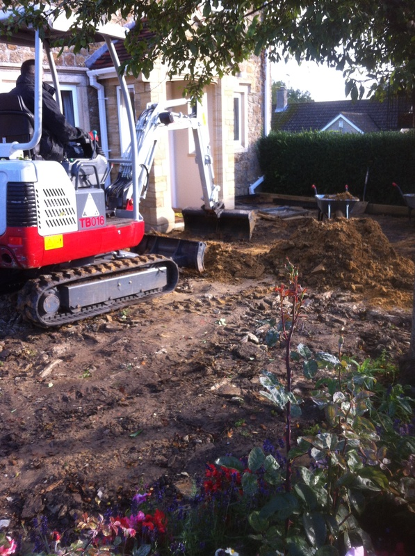 Foundations for new patio