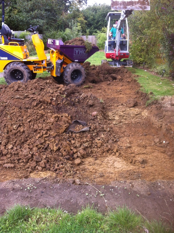 Digging out pond
