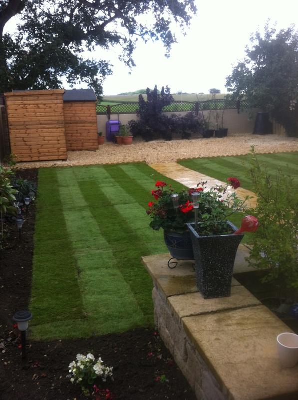 Full garden landscape